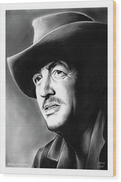 Dean Martin Wood Print