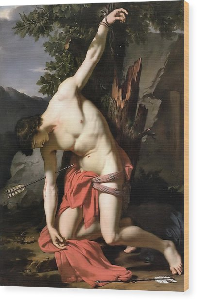 Death Of Saint Sebasian Wood Print
