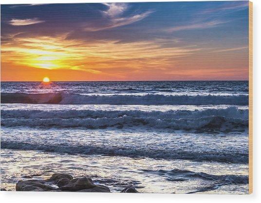 Sunset - Del Mar, California View 1 Wood Print
