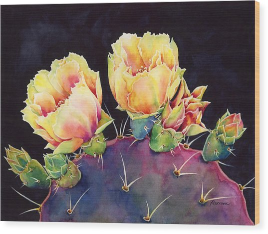 Desert Bloom 2 Wood Print