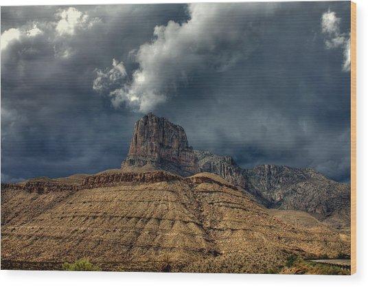 Desert Storm Clouds Wood Print by Farol Tomson