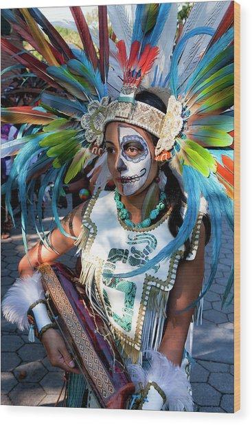 Dia De Los Muertos - Day Of The Dead 10 15 11 Procession Wood Print