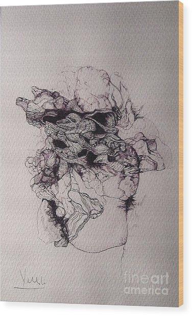 Dibujo Wood Print by Cesar Velasco