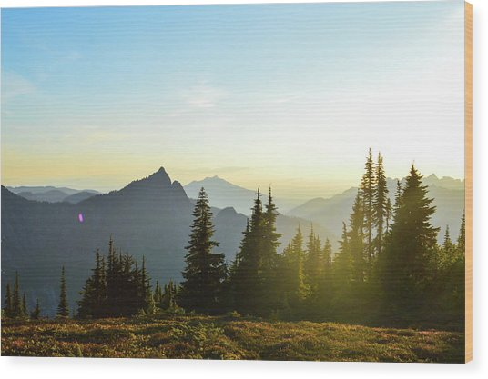 Dickerman Sunset Wood Print