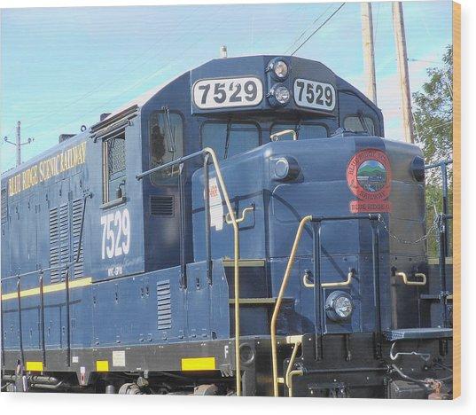 Diesel Engline Train Wood Print