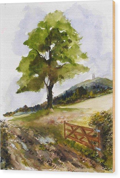 Distant Tor Wood Print