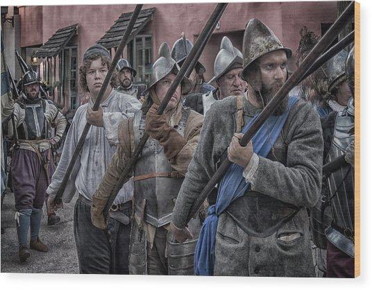 Drakes Raid Of St Augustine Fl Pikes Wood Print