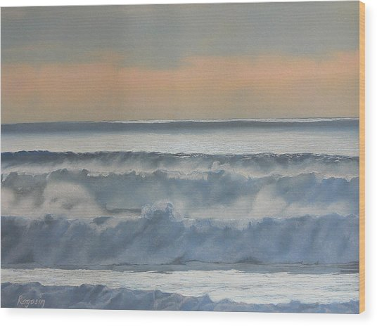 Dusk At High Tide Wood Print