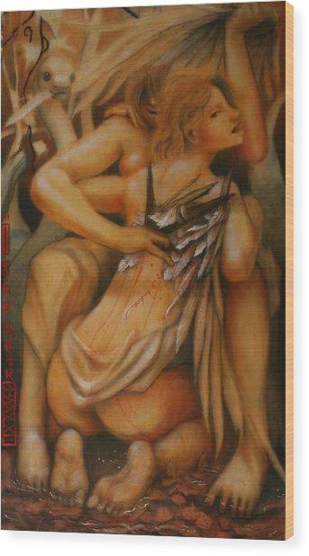 Earthbound Lies Wood Print by Ralph Nixon Jr