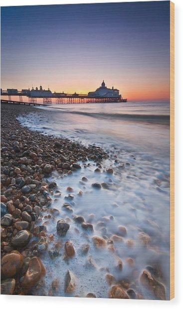 Eastbourne Sunrise Wood Print