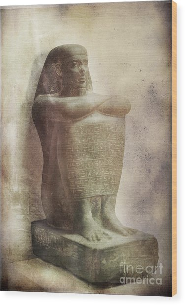 Egyptian Pharaoh. Wood Print