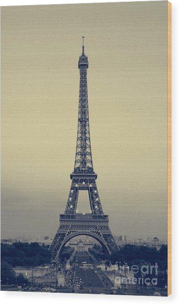 Eiffel Wood Print