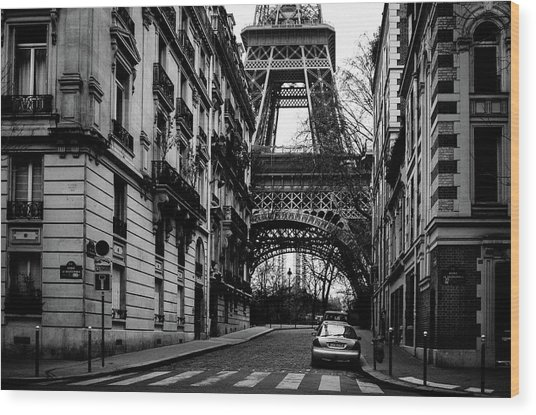 Only In Paris Wood Print