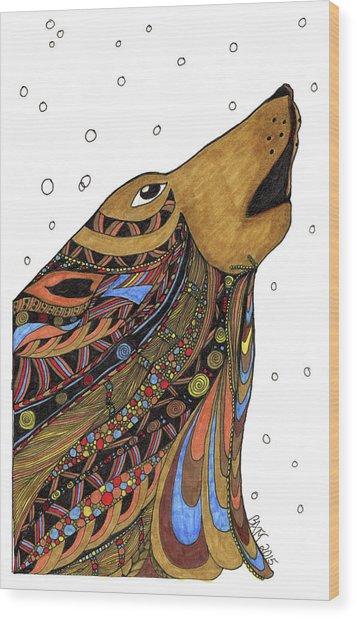 Eli Wolf Wood Print