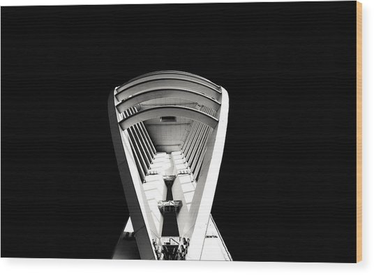 Emirates Spinnaker Tower Wood Print by Angela Aird