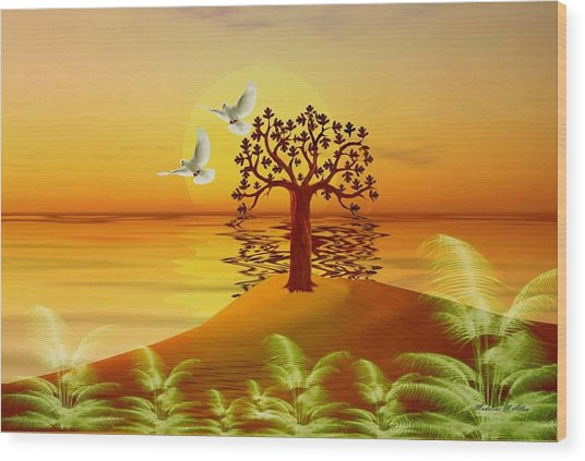Enchanted Isle Wood Print by Madeline  Allen - SmudgeArt