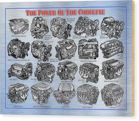 Eng-19_corvette-engines Wood Print
