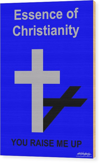 Essence Of Christianity  Wood Print by Asbjorn Lonvig