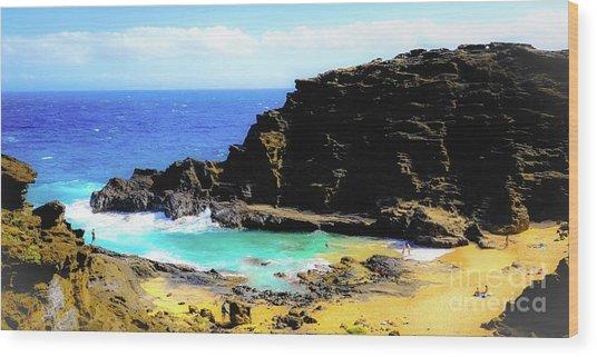 Eternity Beach - Oahu, Hawaii Wood Print