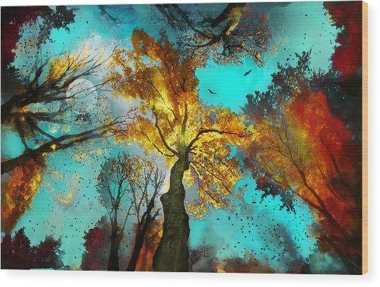 Evening Celebration Wood Print