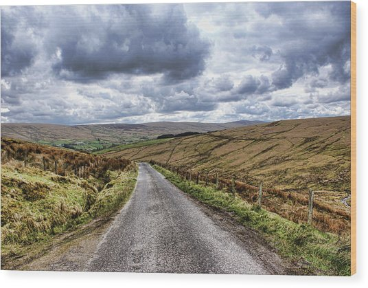 Exploring The Sperrin Mountains Wood Print