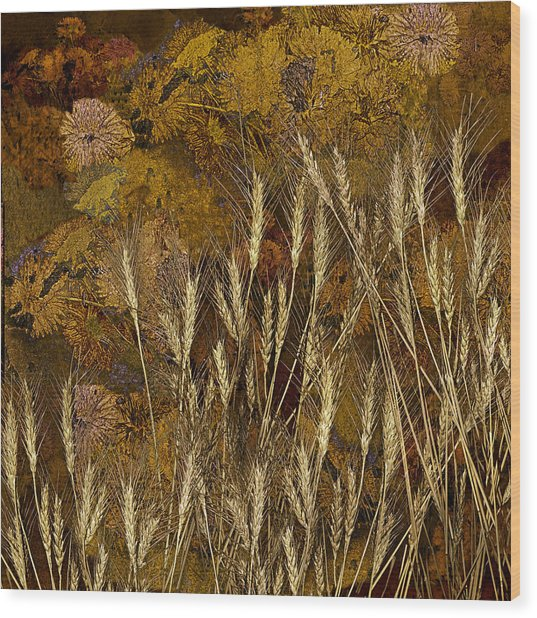 Fall Garden Wood Print by Jeff Burgess