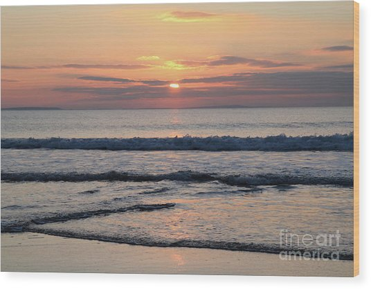 Fanore Sunset 2 Wood Print