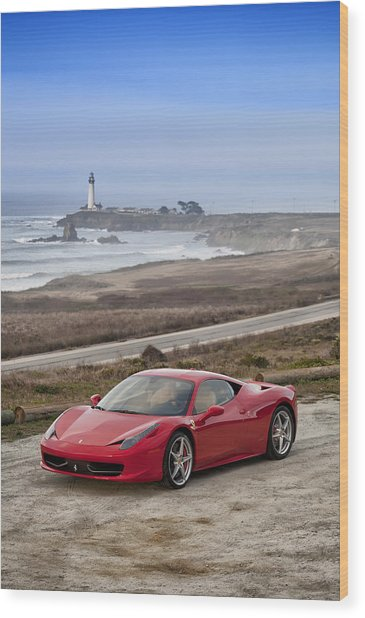 Wood Print featuring the photograph Ferrari 458 Italia by ItzKirb Photography