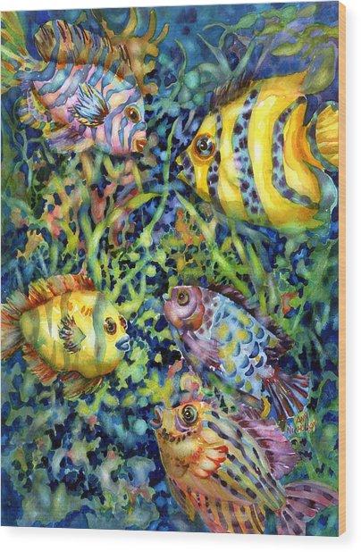 Fish Tales Iv Wood Print