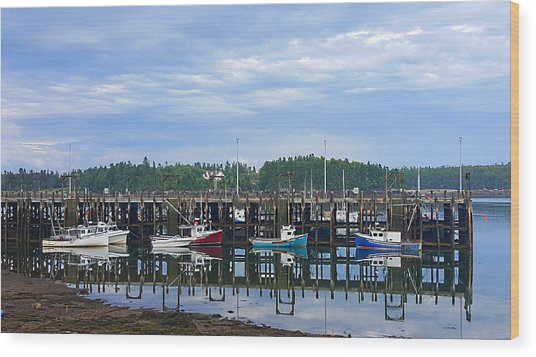 Fishing Boats - Beaver Harbour Wood Print