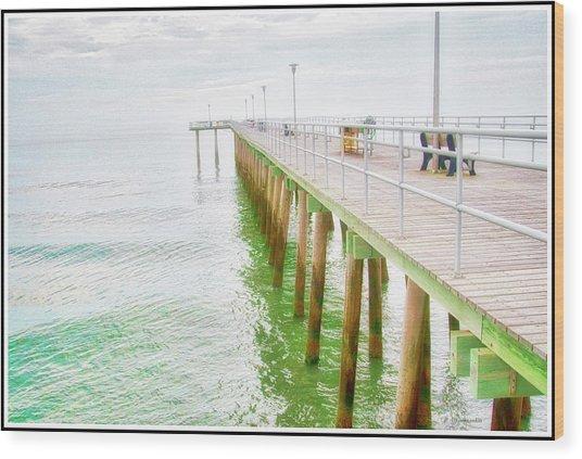 Fishing Pier, Margate, New Jersey Wood Print