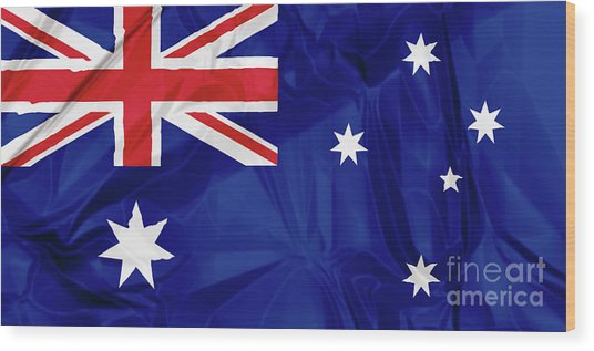 Flag Of Australia Wood Print