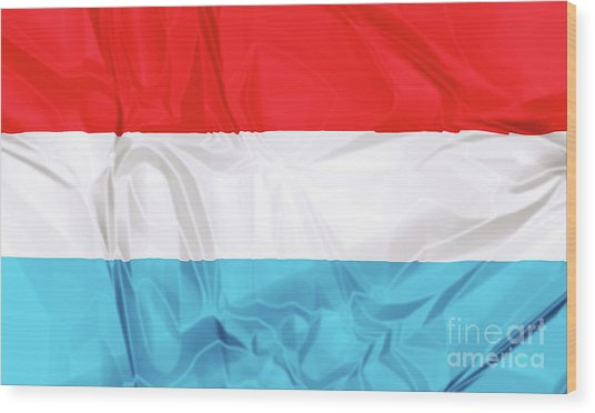 Flag Of Luxembourg Wood Print