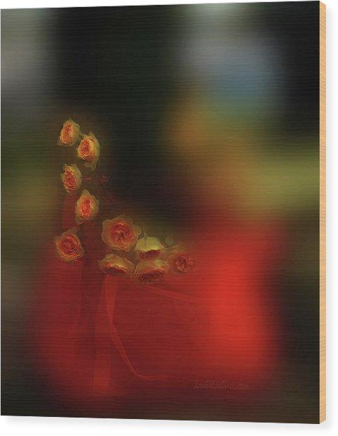 Floral Art 8 Wood Print