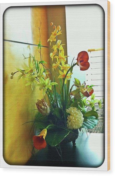 Floral Bouquet Wood Print by Francesco Roncone
