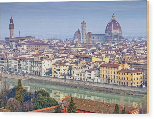 Florence Wood Print by Andre Goncalves
