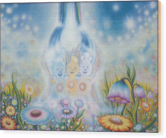 Flower Fairies Wood Print