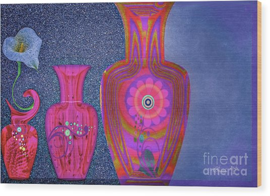 Flower Power Wood Print by Eleni Mac Synodinos