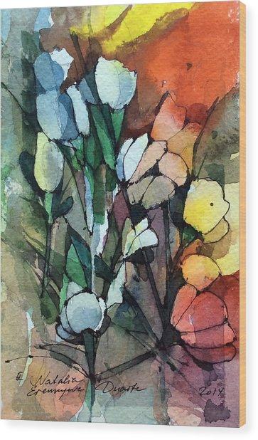 Flowers Fantasy Wood Print