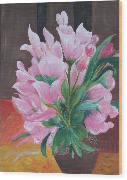 Flowers Wood Print by Taly Bar