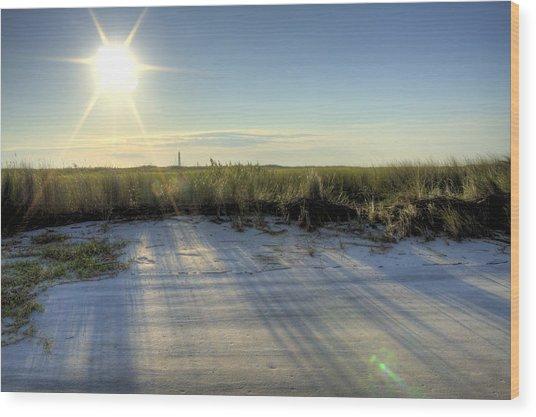 Folly Beach Sunrise Over Morris Island Wood Print