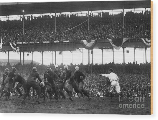 Football Game, 1925 Wood Print