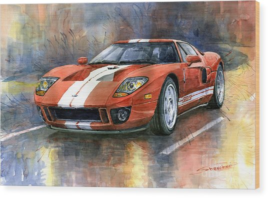 Ford Gt 40 2006  Wood Print
