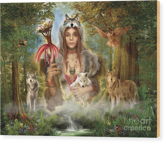 Forest Wolves Wood Print