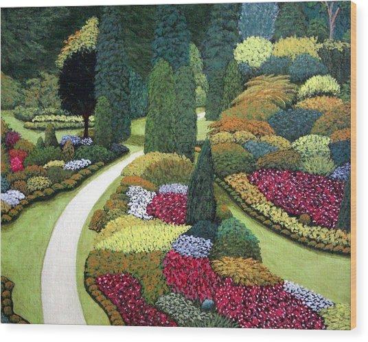 Formal Gardens Wood Print by Frederic Kohli