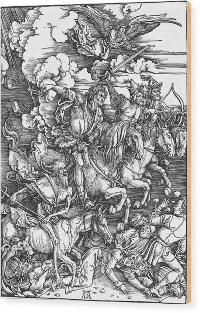 Four Horsemen Of The Apocalypse Wood Print