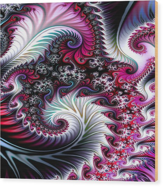 Fractal Pinks Wood Print