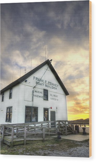 Frank F. Penney Boat Builder Wood Print