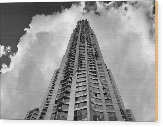 Frank Gehry High Rise Lower Manhattan Wood Print