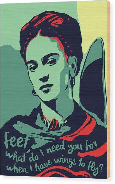 Frida Kahlo Wood Print